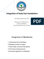 Integration of Body Fuel Metabolism 2013