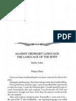 Acker Kathy Against Ordinary Language Language Body