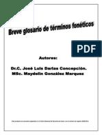 Breve Glosario de Estudios Foneticos