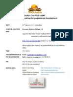 Event Info_19th Jan 2013