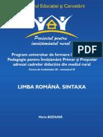 Lb. Romana - Sintaxa