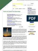 Factors and Criteria for Vent Stack Design