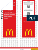 McDonald's Corporation - Sustainability Scorecard 2011