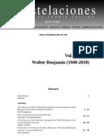 Constelaciones revista de teoría crítica volumen 2 walter benjamin