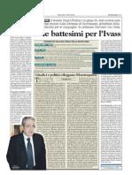 DUE BATTESIMI PER IVASS (Milano Finanza 12/01/2013)