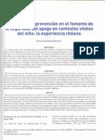 PROGRAMAS DE PREVENCIÓN EN EL FOMENTO DE LA SEGURIDAD DEL APEGO EN CONTEXTOS VITALES DEL NIÑO