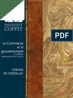 Le Commerce Et Le Gouvernement Etienne de Condillac