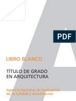 Libro blanco grado arquitectura