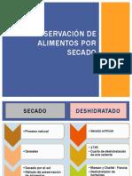CONSERVACIÓN DE ALIMENTOS POR SECADO