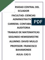 EJERCICIOS DE MATEMATICAS DERIVADAS E INTEGRALES