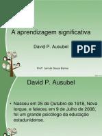 4.1 Aprendizagem Significativa P. Ausubel