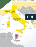 Actes de désespoirs dans les camps italiens en 2011