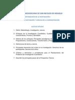 Cuestionario de Metodología