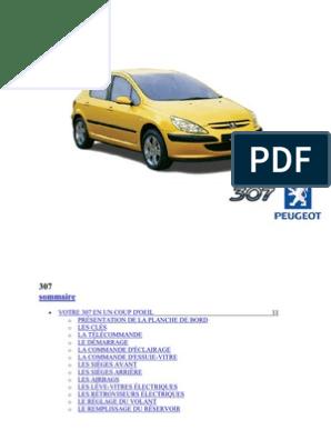 Peugeot 307 (Jan 2002 Mars 2002) Mode Emploi Manuel Guide ...