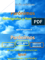Los Paronimos