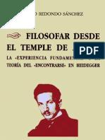 Filosofar desde el Temple de Animo en Heidegger - Pablo Redondo.pdf