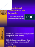 Dewey Decimal Classification – The Summaries