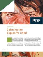 calming the explosive child