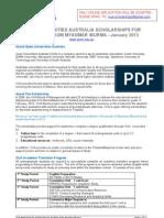 Open Universities Australia - Myanmar Scholarships 2013 Application Forms