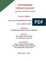 rol de los medios de comunicacion en la educación peruana
