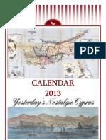 2013 Calendar - Yesterday's Nostalgic Cyprus (English)