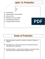 Protection and security Operating System