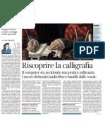 Riscoprire La Calligrafia Di GUIDO CERONETTI - Corriere Della Sera 13.01.2013