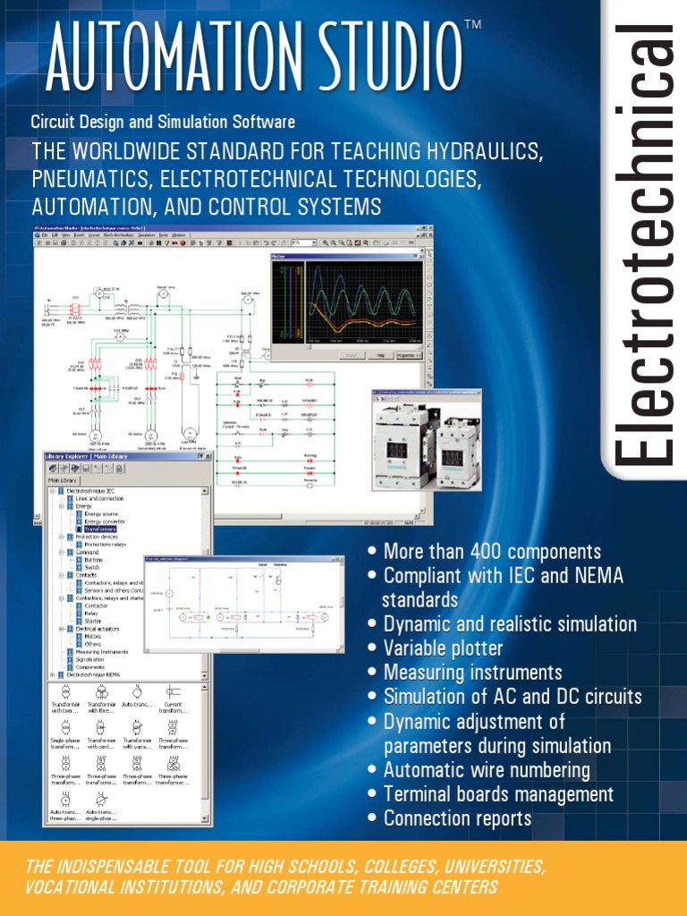 Automation Studio Electrical Circuit Drawing Software 1535090001v1