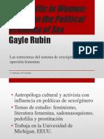 The Traffic in Women. Gayle Rubin