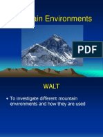 Geography Lesson 1 Mountain Environments