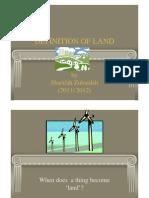 <LAND LAW I> Definition of Land part 1