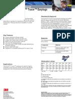 3m E-A-r Tracer Earplug Passive Hearing Technical Datasheet