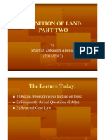 <LAND LAW I> Definition of Land part  2