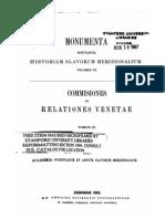 Monumenta a Historiam Slavorum Um Knjiga 6 Simeon Ljubic Commissiones Et Ones Venetae Tomus 3
