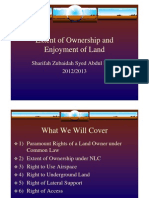 <LAND LAW I> Extent of Ownership and Enjoyment of Land
