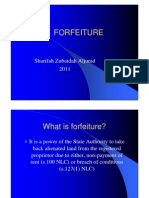 <LAND LAW I> FORFEITURE