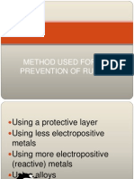 Method Used for the Prevention of Rusting