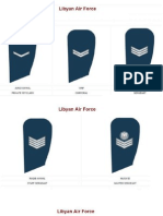 Old Libya Armed Forces Ranks Insignia
