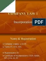 <COMPANY LAW I> Incorporation of Company