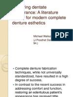 Restoring Dentate Appearance