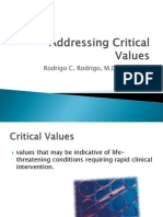 Addressing Criticial Values