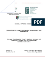 Management of Pelvic Girdle Pain in Pregnancy and Post-partum