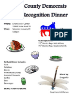 Annual Recognition Dinner Flyer