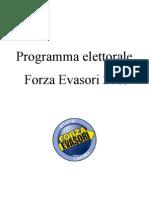 Programma elettorale Forza Evasori 2013