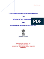Procurement and Opertional Manual for MSO and GMSDs