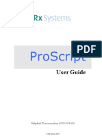 Proscript User Guide
