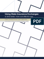 Using State Health Insurance Exchanges to Drive Better, Most Cost-Effective Care