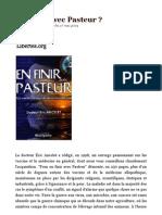 En Finir Avec Pasteur