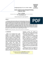 A Finite Element Analysis for the Damaged Rotating Composite Blade