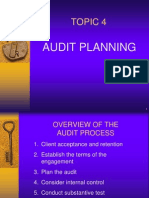 Topic 4 Audit Planning Including Analytical Procedures